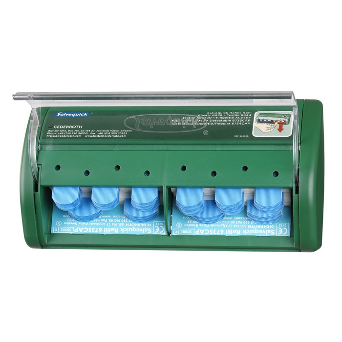 Salvequick Pflasterspender Blue Detectable