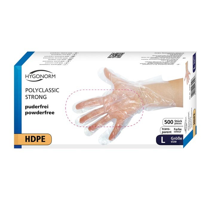 Polyclassic strong HDPE-Handschuhe Gr. L